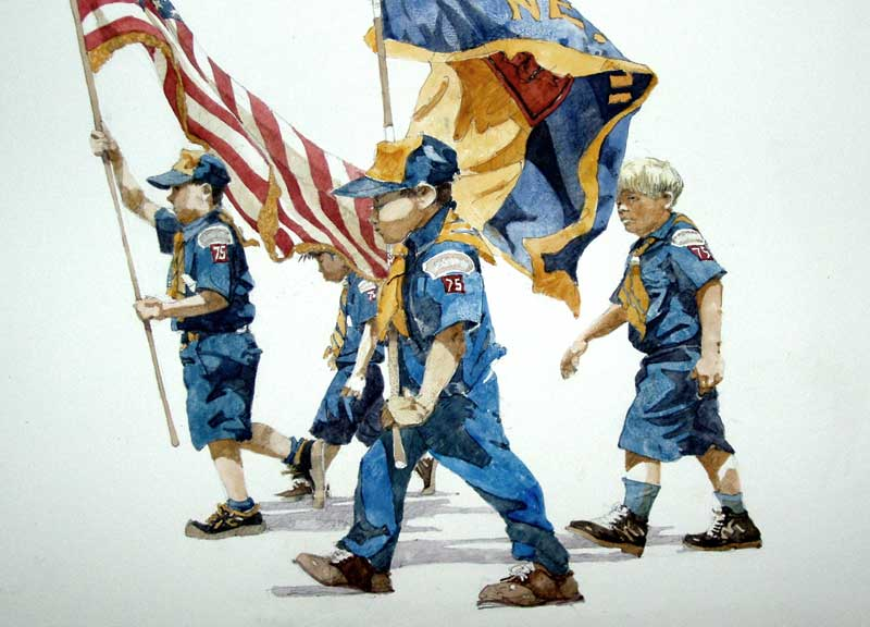 Boy Scouts on Parade by Eddie Flotte