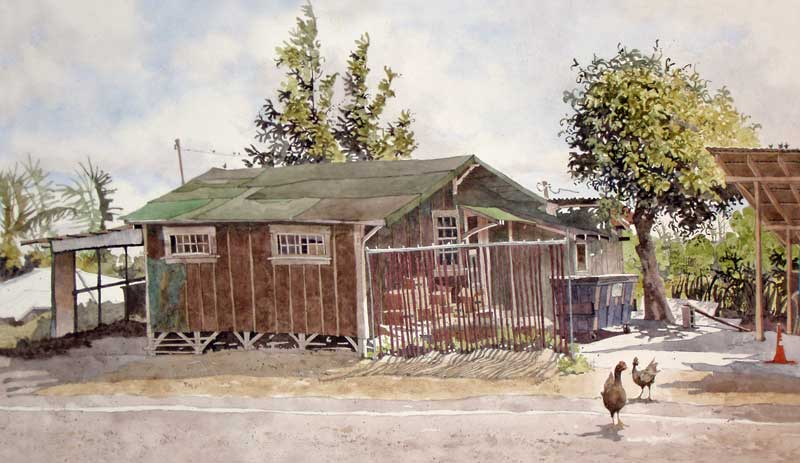 Chickens at Kitada's by Eddie Flotte