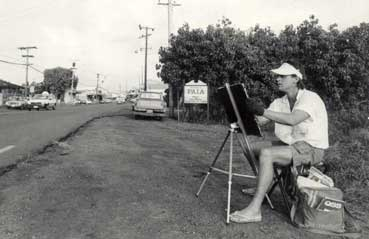 Eddie Drawing Paia Town