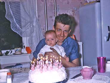 Eddie's Father with his Birthday Cake