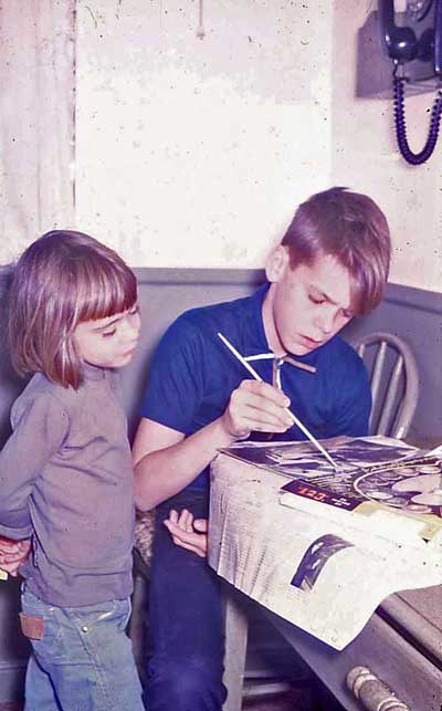 Eddie and Sister with Paint by Number