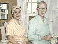 Painting by Eddie Flotte: A Bit About Ed and Norma