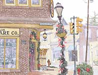 Painting by Eddie Flotte: A Kilian's Christmas