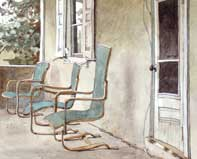 Painting by Eddie Flotte: Across The Porch