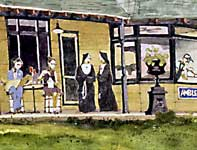 Painting by Eddie Flotte: Ambler Train Station Detail