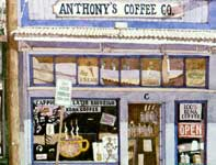 Painting by Eddie Flotte: Anthony's Coffee