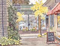Painting by Eddie Flotte: Artisans On The Avenue