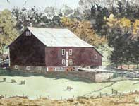 Painting by Eddie Flotte: Autumn at Kuerner's