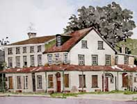 Painting by Eddie Flotte: Black Horse Tavern