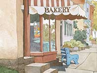 Painting by Eddie Flotte: Bredenbeck's Bakery