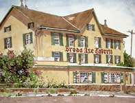 Painting by Eddie Flotte: Broadaxe Tavern