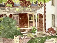 Painting by Eddie Flotte: Chestnut Hill Porch