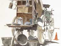 Painting by Eddie Flotte: Chuck Wagon