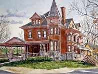 Painting by Eddie Flotte: Collegeville House