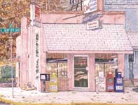 Painting by Eddie Flotte: Del's Steaks and Hoagies Ambler