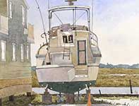 Painting by Eddie Flotte: Dry Docked Off Margate