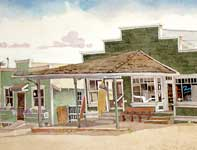 Painting by Eddie Flotte: Fong Store