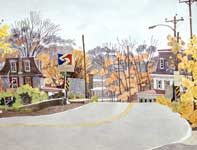 Painting by Eddie Flotte: Fort Washington Crossing