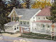 Painting by Eddie Flotte: Freedom Row Valley Forge, PA