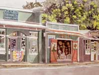 Painting by Eddie Flotte: Gecko Trading Company