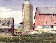 Painting by Eddie Flotte: Gratorsford Dairy Cow