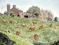 Painting by Eddie Flotte: Gratorsford Dairy Farm