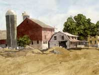 Painting by Eddie Flotte: Gratorsford Farm House