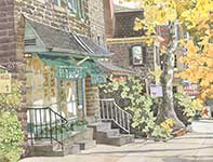 Painting by Eddie Flotte: I Love Chestnut Hill