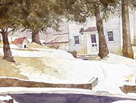 Painting by Eddie Flotte: In A Flurry