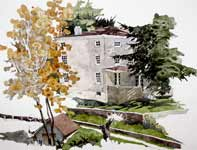 Painting by Eddie Flotte: Kuerner's House