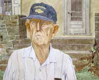 Painting by Eddie Flotte: Mr Kuerner At The Porch