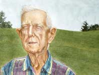 Painting by Eddie Flotte: Mr Kuerner on Kuerner's Hill