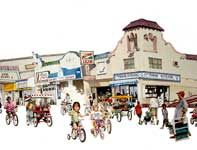Painting by Eddie Flotte: Ocean City Boardwalk