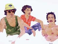 Painting by Eddie Flotte: Paia Boys