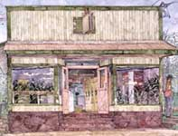 Painting by Eddie Flotte: Paia Wash House