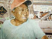 Painting by Eddie Flotte: Portrait of Mister Brown