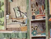 Painting by Eddie Flotte: Pottery Tools