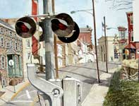 Painting by Eddie Flotte: Royersford Crossing