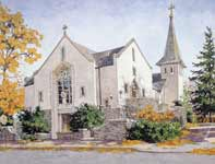 Painting by Eddie Flotte: Saint Anthony's Ambler