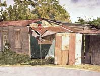 Painting by Eddie Flotte: Sherman's Shed