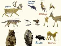 Painting by Eddie Flotte: Sketches of Animals