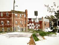 Painting by Eddie Flotte: Southern Avenue Ambler