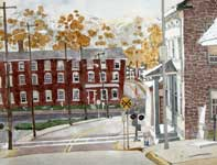 Painting by Eddie Flotte: Spring City