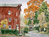 Painting by Eddie Flotte: Spring Mount Saw Mill