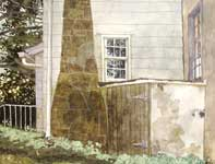 Painting by Eddie Flotte: Stone Chimney At Kuerner's