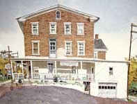 Painting by Eddie Flotte: Sumneytown Hotel