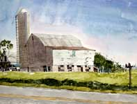 Painting by Eddie Flotte: Swamp Pike Dairy Farm