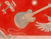 Painting by Eddie Flotte: The Flight of the Telecaster