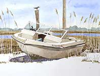 Painting by Eddie Flotte: The Ghost Boat