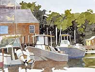 Painting by Eddie Flotte: Tuckerton Seaport